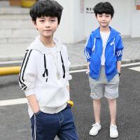 男童外套夏季新款中大童夏天薄款透气连帽儿童外衣男孩皮肤衣
