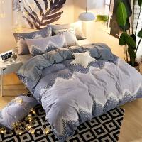 A纯棉b珊瑚绒四件套保暖加厚床上用品套件冬季法莱绒被套床单1.8m 桔红色 绒-安