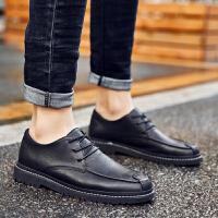 皮鞋男内增高秋季新款男士商务休闲鞋青年韩版英伦百搭潮流加绒鞋