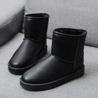秋冬季新款雪地靴女皮面防水短筒保暖加绒棉鞋女学生韩版平底