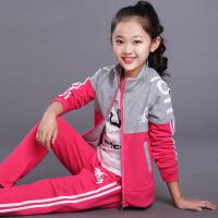 女童套装儿童服装中大童运动装