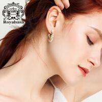 皇家莎莎花环耳钉耳环个性韩国仿水晶耳坠女清新可爱耳饰生日礼物