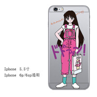 iphone7苹果6s手机壳6plus硅胶xr软壳5s防摔8x透明xs max新款少女