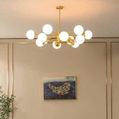 雷士照明北欧创意魔豆分子吊灯大气全铜客厅卧室灯现代简约套餐