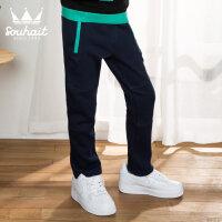 【3件3折 到手价:74.7元】水孩儿(SOUHAIT)秋季新款男童时尚运动裤AKKQK509