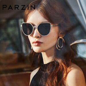 帕森偏光太阳镜 女士金属大框猫眼造型潮墨镜驾驶镜 8181