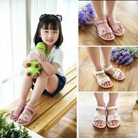 宝宝小孩公主鞋女童鞋儿童凉鞋平底学生沙滩鞋