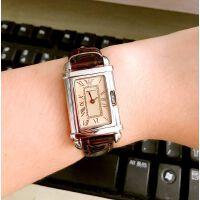 正品Armani阿玛尼手表男女情侣对表时尚方形超薄石英表0260