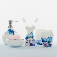 陶瓷欧式卫浴五件套骨瓷卫浴套装简约沐浴结婚洗漱用品