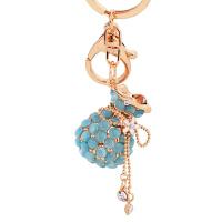 韩国创意挂饰福袋水钻可爱猫眼石汽车钥匙扣女包包挂件钥匙链饰品