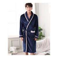 情侣浴袍男女性感长款韩版秋冬季款珊瑚绒睡袍睡衣比棉吸水