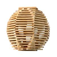 木棒模型材料木条积木木制桶装建筑积3岁以上智力玩具