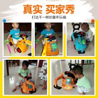 儿童可坐可骑挖掘机玩具宝宝大号四轮挖机工程学步车小男孩挖土机