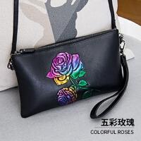 手包女手拿包新款潮韩版个性时尚多卡位压花单肩小挎包女