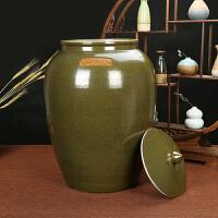 景德镇陶瓷带盖米缸米桶茶叶末油缸酒坛水缸20/50斤100斤