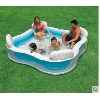 靠背充气游泳池儿童充气趣味游泳池靠背座位家庭充气水池