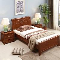 单人床1.2米实木床1.35米双人床1.5橡木床1m现代简约储物床 1800mm*1900mm 箱框结构