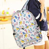 双肩包旅行背包男女日韩初中学生小学生儿童书包帆布轻