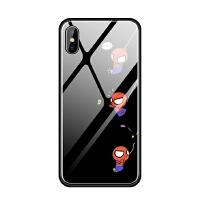 苹果iphoneX 6s 7 8 plus 5se蓝光玻璃手机壳萌蜘蛛侠可爱趣味