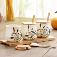 0512064225929欧式创意套装调味罐调味品罐厨房用品盐罐子三件套家用