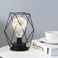 创意小夜灯INS北欧风房间装饰品床头台灯LED少女心卧室简约灯插电