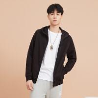 【1件3折到手价:94.8】美特斯邦威旗下4M开衫卫衣男春季新款纯色休闲韩版针织外套