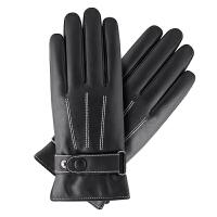 触屏男士手套冬季皮手套男加绒加厚保暖防风防水骑摩托车骑行手套 A款 触屏功能 均码