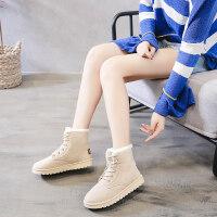 雪地靴女冬季棉鞋2018新款韩版12大童13少女孩加绒保暖运动鞋15岁