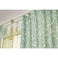 韩式田园木棉花半遮光飘窗卧室客厅落地窗半帘定制窗帘成品纱