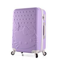 卡通拉杆箱小清新旅行箱女儿童行李箱22寸24寸26寸学生皮箱子母箱 白边#薰衣草紫 单箱 20寸 登机