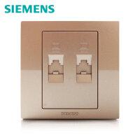 西门子开关开关面板西门子悦动系列香槟金二位超五类八芯电脑插座