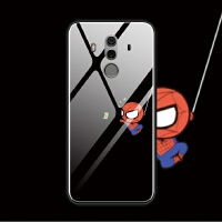 华为mate9 mate10 pro mate8蓝光玻璃手机壳软趣味搞怪蜘蛛侠萌