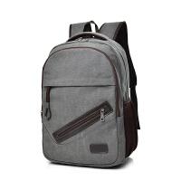 新款男士双肩包潮流休闲帆布背包高中大学生书包电脑包旅行包