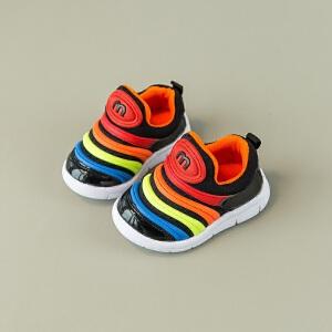 春秋宝宝鞋男1-3岁儿童鞋子毛毛虫运动鞋女小童婴儿软底学步鞋