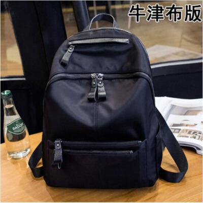 搭书包背包牛津布软皮女士旅行包 双肩包女款韩版百