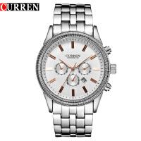 CURREN 卡瑞恩8058男士防水日历手表 石英高档商务流行腕表