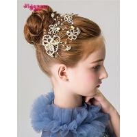 女童花童配饰儿童头饰头花发夹金色女童发饰公主饰品