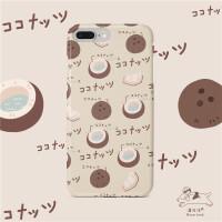苹果椰子手机壳iphone6s保护套7/8plus浅灰清新xsmax滑春夏天