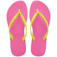 havaianas女款时尚细带人字拖SLIM MIX平底防滑拼色哈瓦那拖鞋 0703