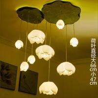 现代中式个性创意家居荷花吊灯茶楼卧室餐厅客厅装饰灯仿古典灯具