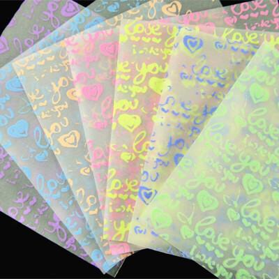 爱心 桃心手工折纸材料夜光千纸鹤折纸 love字母正方形折纸