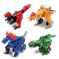 变形恐龙迅猛龙镰刀龙变形汽车机器人儿童男孩 玩具 抖音 伟易达变形恐龙---镰刀龙 80-141018 35条句子+音