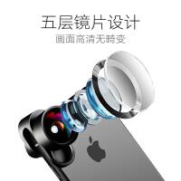 2018新款 手机摄像头 外置高清抖音7p镜头广角微距鱼眼苹果iphone8通用单反拍照三合一套装相 〖黑 色〗级套装