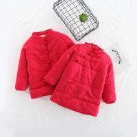 新年装冬季新款中国民族风男女童兄妹装复古盘扣唐装加厚