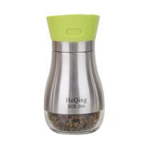 家用厨房用品304不锈钢调料盒调味瓶罐套装调料瓶调料罐玻璃盐罐