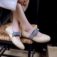 儿童豆豆鞋女童黑色皮鞋小女孩蝴蝶结公主鞋中大童鞋春款平底单鞋SN7965
