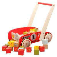玩具多功能防侧翻学步车木制积木婴幼儿手推车助步车