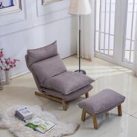 懒人沙发榻榻米日式单人卧室客厅可拆洗折叠阳台布艺沙发椅小户型