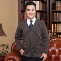 2018新款中年男士针织衫开衫中老年人爸爸装秋冬装加厚毛衣外套大码衫