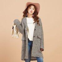 【2件1.5折�r:77.85,可�B券】美特斯邦威羊毛大衣女�L款冬�b新款休�e甜美呢子外套商�隹�